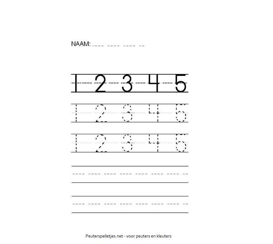 cijfers werkblad