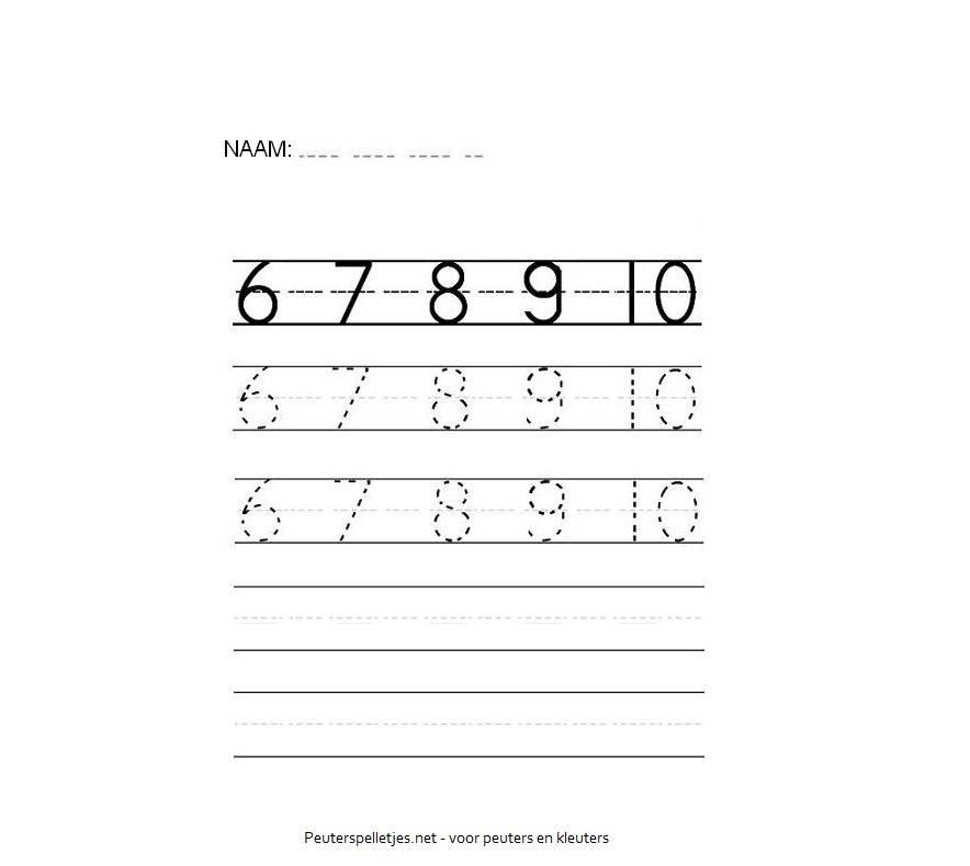 cijfers werkblad printen
