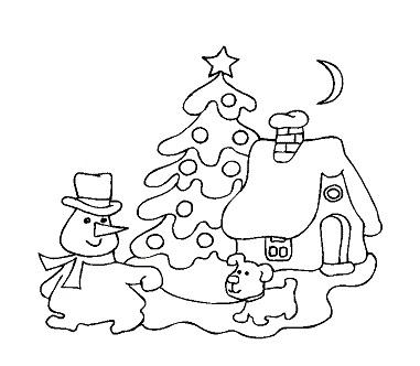 mewarna10 kleurplaten sneeuwman kerstman