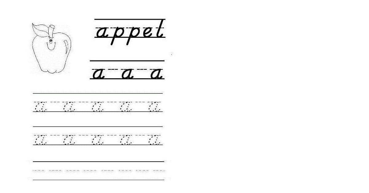 Goede Letters leren schrijven, herkennen en lezen. Met ABC werkbladen JD-09