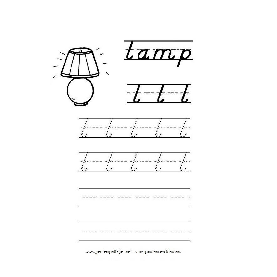 letter L werkblad