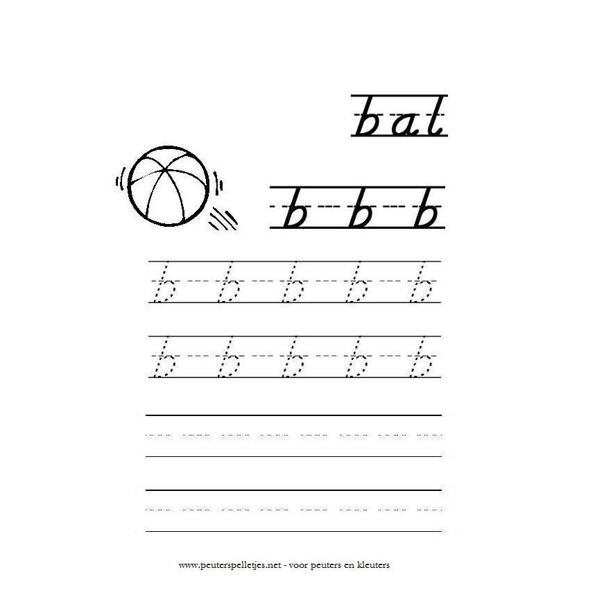 letter B werkblad