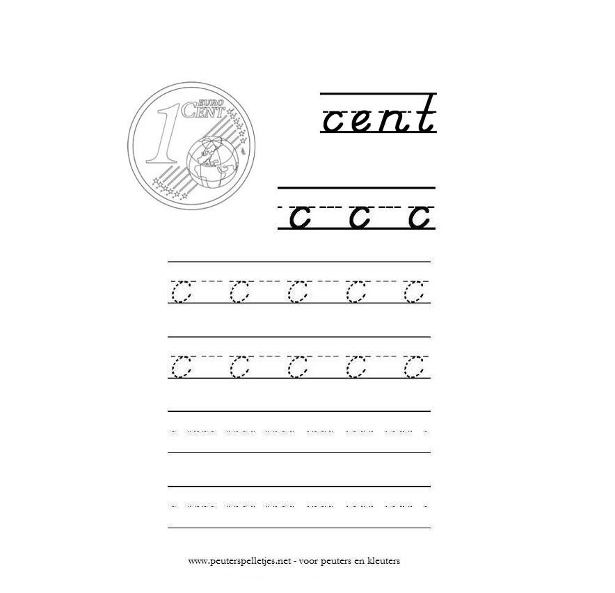 letter C werkblad