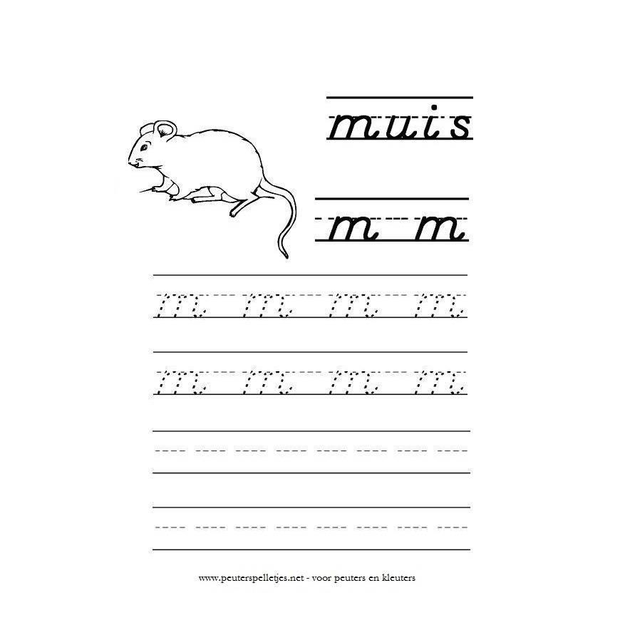 letter m werkblad
